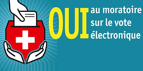 Moratoire sur le vote électronique | initiative populaire